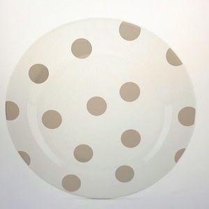 Kate Spade Deco Dot Beige Accent Plate Set (4)
